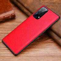 Genuine Leather Lychee Texture Case Cover For OPPO Reno 2 3 4/Reno 5 Pro Bumper