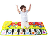 Musical Music Kid Piano Play Baby Mat Animal Educational Soft Kick Toy