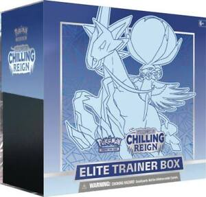 NEW! Pokemon TCG Sword and Shield Chilling Reign  Ice Rider Calyrex VMAX Elite T