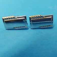 Set Of 4 Vintage Cufflinks Silver Tone One Owner Estate