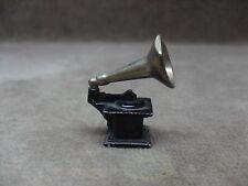 Vintage Dollhouse Miniatures Die Cast Metal Phonograph Gramophone 1:12