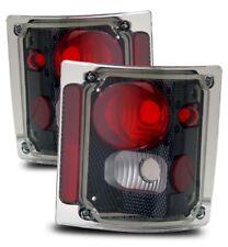 Fit 73-87 Chevy C/K C10/Suburban/Tahoe/Blazer Carbon Paint Tail Brake Lights