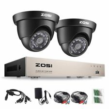 ZOSI CCTV 2 Camera Kit 720P 4CH DVR 1080N HDMI Home Surveillance Security System