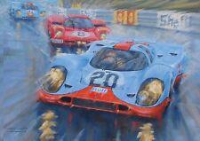 Porsche 917 Gulf 1970 Le Mans 24hr Race Motor Sport Racing Blank Birthday Card