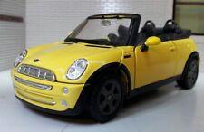 1:24 Echelle Maisto Miniature Jaune Modèle MINI COOPER S Cabriolet Voiture