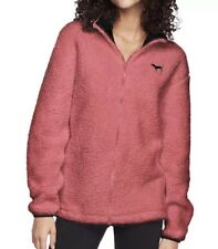 Nwt PINK Coral Full Zip Sherpa Jacket Size Large Sold Out Color!