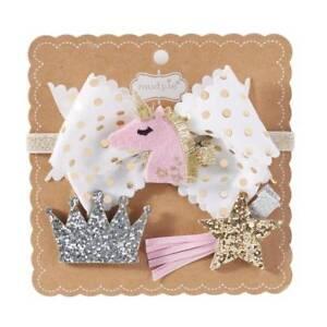 Mud Pie Dream in Glitter Unicorn 3-in-1 Bow Headband