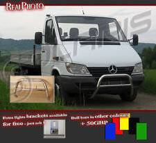 MERCEDES SPRINTER 00-05 LOW BULL BAR WITHOUT AXLE BARS +GRATIS! STAINLESS STEEL!