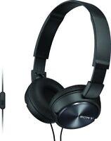 Sony ZX Series MDR-ZX310AP Foldable Headband Style Stereo Headphones w/Mic-Black