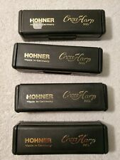 4 Hohner Cross Harp Ms Harmonica. A, C, D, and G. Made in Germany.