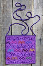 Morral Bag Purple Mayan San Andrés Larrainzar Mexican Hand Woven Hippie Cowgirl