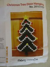 Mary Maxim crochet kit Christmas Tree Door Hanging