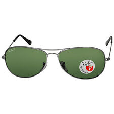 Ray Ban Cockpit Gunmetal Crystal Green 59mm Sunglasses RB3362-59-004-58