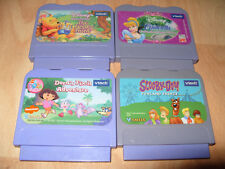 4x VTECH V SMILE GAME Cartridge Bundle Dora Cinderella Scooby Doo Winnie Poo