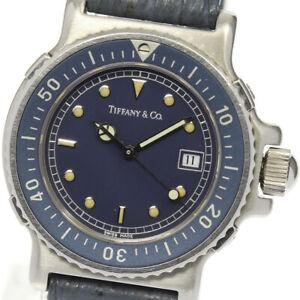 TIFFANY&Co. Diver watch L0710 Date Navy Dial Quartz Ladies Watch_645435