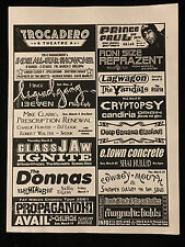 Concert Flyer/Handbill-The Vandals-Frank Black-Johnnie Johnson-Donnas-Old 97S