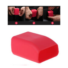 Universal Silicone Car Seat Belt Buckle Covers Clip Anti-Scratch Cover Red
