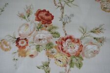 Lee Jofa Fabric WESTON Floral Design 2 yards in length Rose Lime Tan