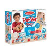 New Childrens Melissa and Doug Pet Vet Play Set inc Plush Dog & Cat Age 3+