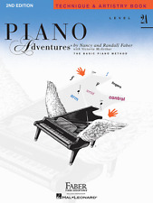 FABER PIANO ADVENTURES LEVEL 2A-TECHNIQUE & ARTISTRY MUSIC BOOK-NEW ON SALE T&A!