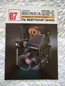 Vintage Zenza Bronica GS-1 Multi-Format Camera Brochure