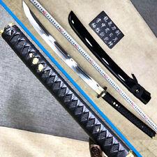 Samurai Wakizashi Battle Broad Knife Saber 1095Carbon Steel Sharp Sword Katana