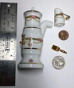 1:12 Scale Miniature Furniture Reutter German Porcelain Heater Pitcher Floral #S