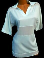 White sheer see through v neck women's plus size top XL