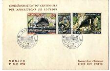 Sobre sellos Monaco 1958 Primer día de emisión first day cover ref.02