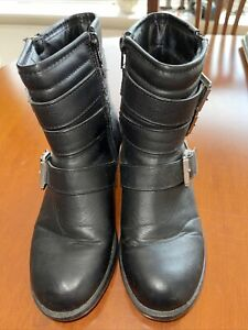 Chunky Black Ankle Boots By New Look. Size 3. Worn Twice