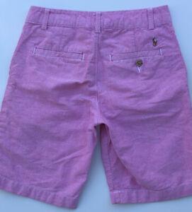 Polo Ralph Lauren Boys 10 Shorts Pink Classic Flat Front EUC