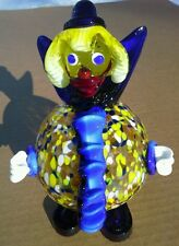 Imperial Enterprises Hand Blown Glass Clown, Very Colorful