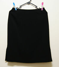 VIOLA PER DONNA SKIRT BLACK PENCIL SKIRT, Sz 10 / 38