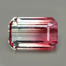 15.08ct.RARE GEMSTONE BI COLOR TOURMALINE MOZAMBIQUE UNHEATED NATURAL GEMSTONE