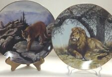 African Shade/Mountain Dweller -Big Cats of the World - lot of 2 plates Nib