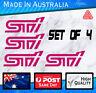 Subaru style STI Stickers - Magenta set of 4 WRX JDM,  Mazda, Nissan decal