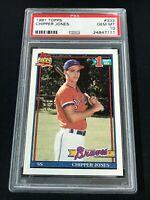 1991 Topps #333 CHIPPER JONES PSA 10 Atlanta Braves Rookie ~SC3-111
