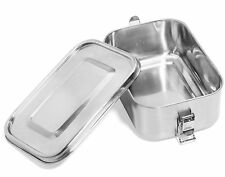 Leak Proof Stainless Steel Food Container, Metal Lunch Box for Kids, Teens or a