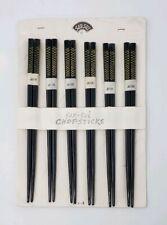 NOS 1950s-60s Vintage Lacquered Chopsticks - 6 Sets - Made in Japan