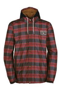 Bonfire Morris Snowboard Jacket, Men's Large, Red Rum-X Plaid New
