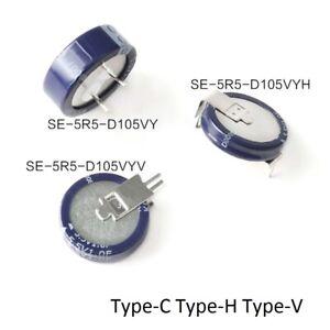 Farad Capacitors 5.5V 1F Super Capacitors SE-5R5-D105VY Type-C Type-H Type-V