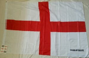THE GREAT ESCAPE - Official England 1.5X1 Metre St Georges Flag & Temp Tattoos