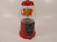 "Vintage 11"" Jelly Belly Bean Dispenser Metal Glass Coin Operated Gumball Machine"