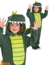 Kids Dinosaur Costume Age 4 5 6 Jumpsuit Boys Girls Fancy Dress Book Halloween