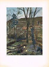 1940's Old Vintage A. Dunoyer De Segonzac Les Baliveaux Offset Litho Art Print