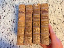"""New listing 1768 Antique Leather Books """"The Manner to Study & Teach Fine Arts"""" French"""
