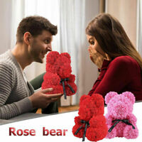 25cm Rose Teddy Bear /w Heart Flower Gift For Mother's Day Birthday Wedding Y