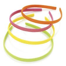 4 Colori Neon Alice Bande Fascia Per Capelli Fascia Per Capelli Aliceband Set Da Donna Bambine Bambini