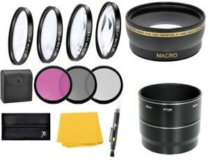 Wide Angle Lens & Filter Accessory Kit for Nikon Coolpix P6000