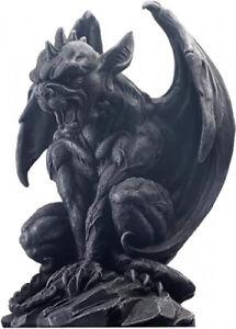 (23cm H) - JORAE Winged Gargoyle Statue Outdoor Decor Sitting Guardian